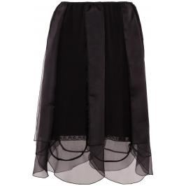 Prada gonna chiffon e organza Donna 36 Nero Silk