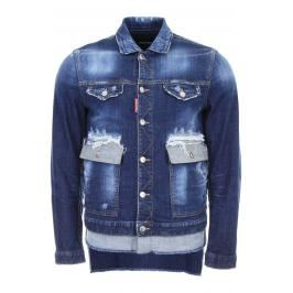 Dsquared2 giubbino in denim Donna 50 Blu Cotone