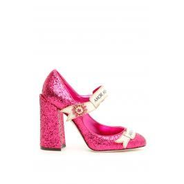 Dolce & gabbana mary jane in glitter Donna 36 Fuxia Pelle
