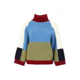 See by chloÉ pullover color block Donna L Blu/Rosso/Verde Lana