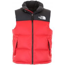 The north face gilet retro nuptse Uomo M Nero/Rosso Tecnico