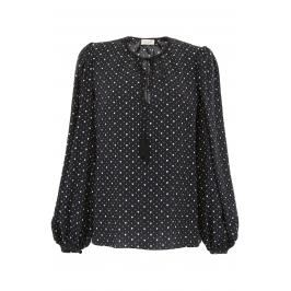 Saint laurent blusa stampa heart Donna 40 Bianco/Nero Silk